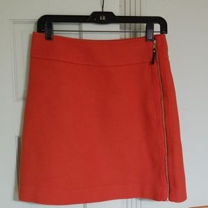 Ann Taylor Burnt Orange skirt w/ side zipper